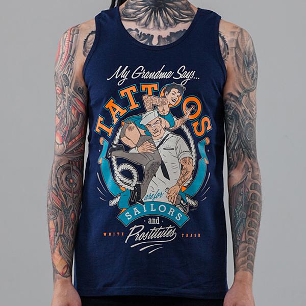 Майка мужская Tattoos - photo#32