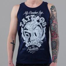 Майка мужская Tattoos WHT