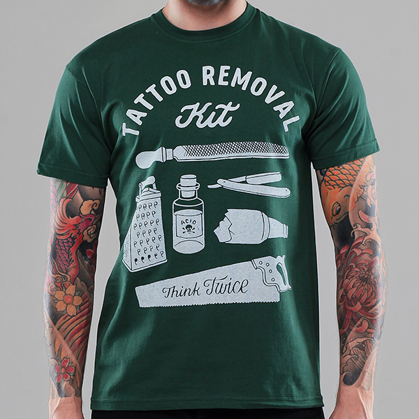 Tattoo removal kit for Tattooed white trash t shirt